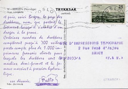 1958 serie presto carte 4 verso bergen