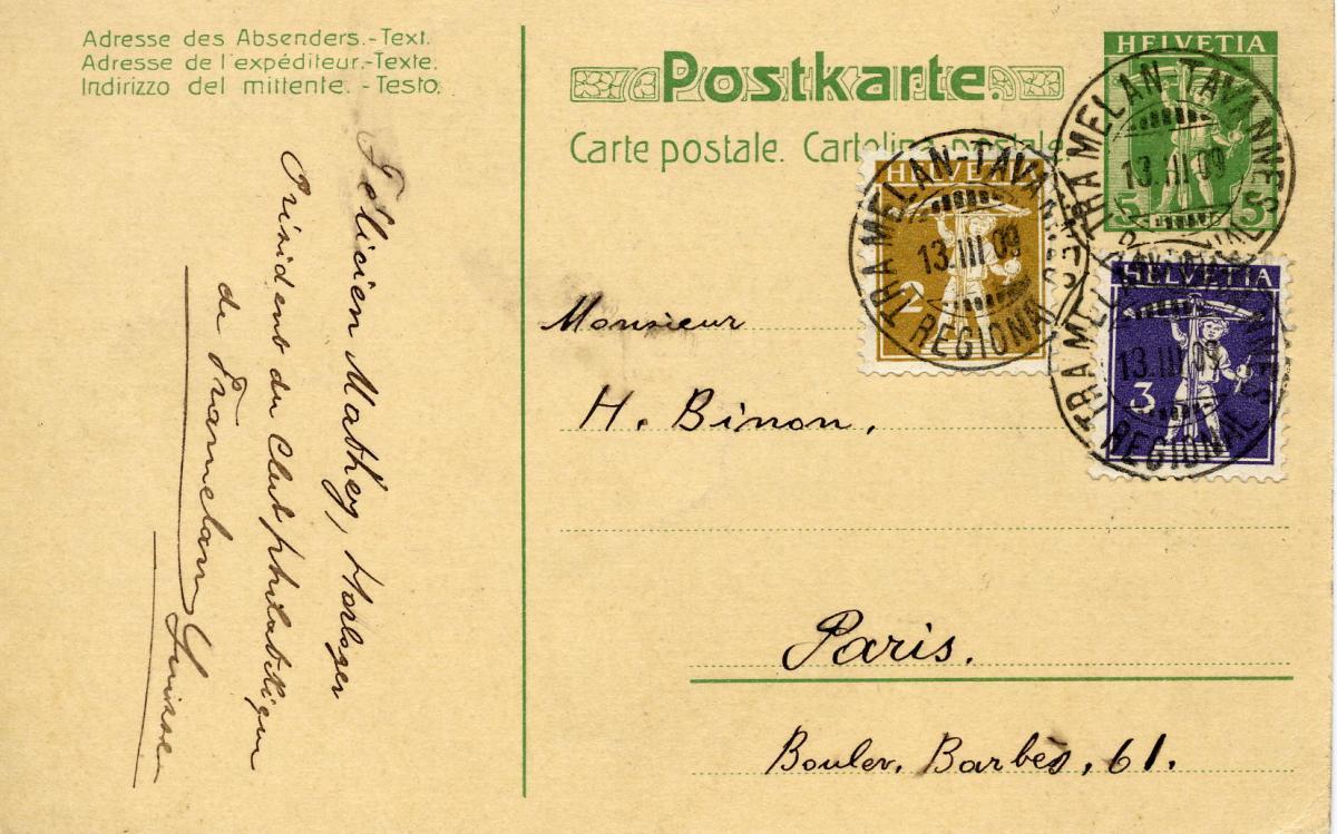 Carte postale suisse tramelan recto 13031909