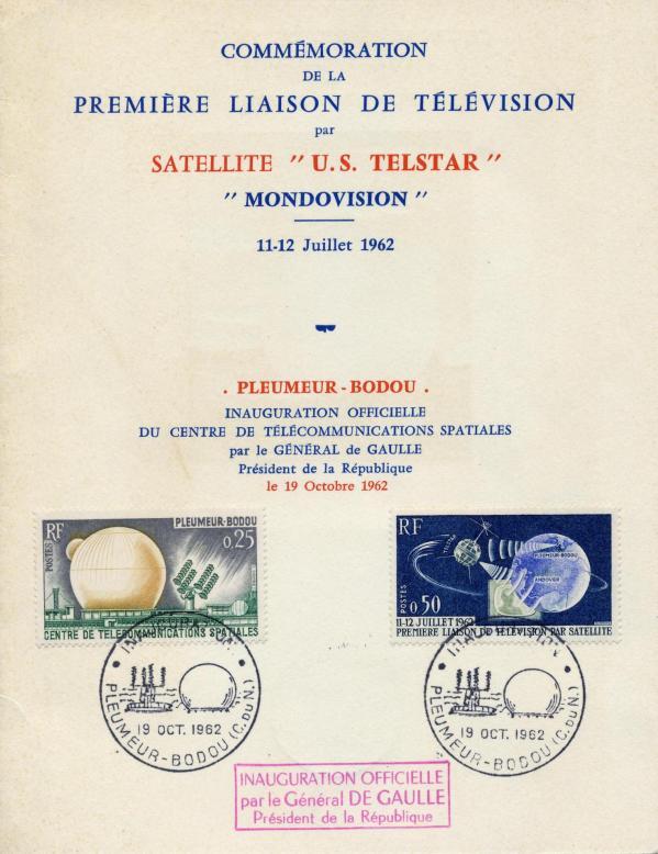Illustration fra tv mondiovision pleumeur bodou 1963
