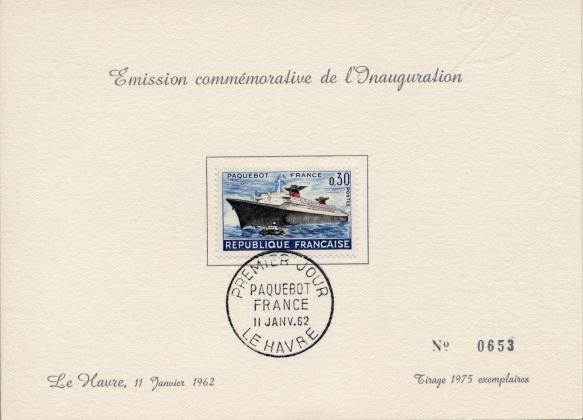 Paquebot france 1962 inauguration