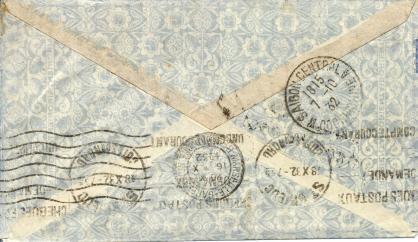 Saigon marseille 1932 air orient verso